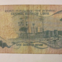CY - 1/4 dinar 1981 Libia Libya - bancnota africa