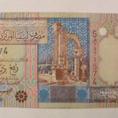 CY - 1/4 dinar 2002 Libia Libya frumoasa - bancnota africa