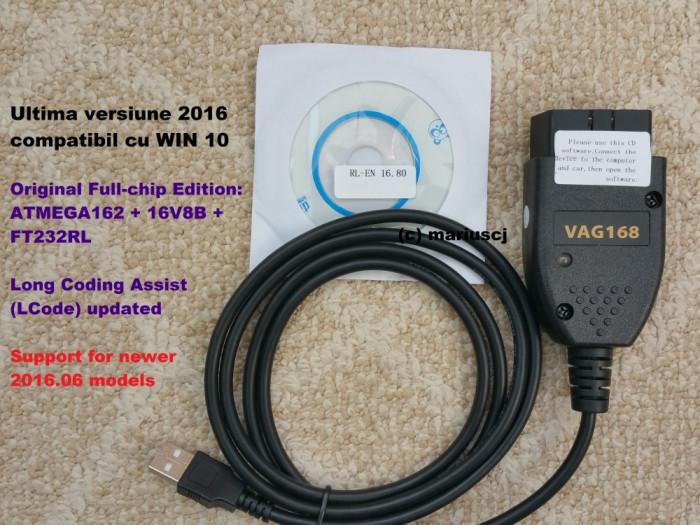 Interfata diagnoza HQ VAG COM VCDS 16.8 EN, Full chip , Long Coding, Windows 10