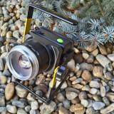 Lanterna Proiector Reflector Portabil 20W cu Lupa si ZOOM + 2 Leduri CREE T6-Q5