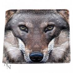 Portofel bărbați Portretul unui lup