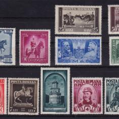 ROMANIA 1938, LP 128, CENTENARUL NASTERII REGELUI CAROL, MNH - Timbre Romania, Nestampilat