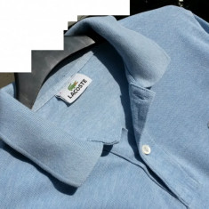 Bluza barbati LACOSTE nr.M (nr.4) originala - Camasa barbati Lacoste, Marime: M, Culoare: Albastru, Maneca lunga