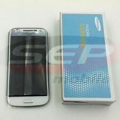 LCD+Touchscreen cu Rama Samsung i9195 Galaxy S4 mini WHITE LA FLEUR original - Display LCD