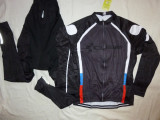 Echipament ciclism complet iarna toamna CUBE black set cu thermal fleece, Tricouri