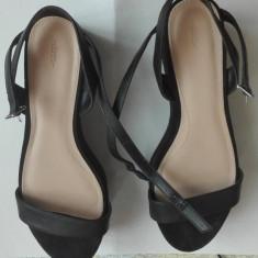 Sandala Zara Trafaluc - Sandale dama Zara, Culoare: Negru, Marime: 38 2/3