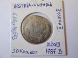 AUSTRIA 20 KREUZER 1787 B ARGINT, Europa