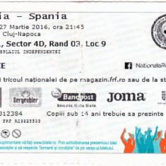 Bilet meci fotbal ROMANIA - SPANIA 27.03.2016
