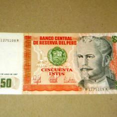 50 intis 1987 PERU 1275109 UNC - 2+1 gratis - RBK18386 - bancnota america