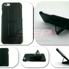 Toc piele cu suport LG G5 - Husa Telefon, Negru