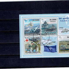 Sao Tome - 60 anniversay - N.A.T.O. - Timbre straine, An: 2009, Militar, Stampilat