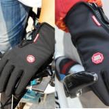 Manusi neopren groase pana la -3 grade cu grip silicon si fermoar - Echipament Ciclism