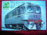 Maxima Locomotiva Diesel - Electroputere Craiova - 1981 Expozitie Filatelica