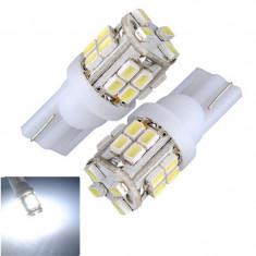 BEC AUTO LED POZITIE W5W T10 -20 SMD LEDURI POZITII INTERIOR BEC SMD alb rece - Led auto SunTop, Universal