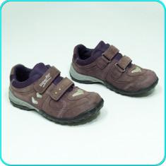 DE CALITATE → Pantofi sport, PIELE, comozi, caldurosi, SUPERFIT → fete | nr. 32 - Adidasi copii Geox, Culoare: Mov, Piele intoarsa