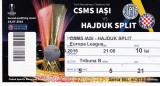 Bilet meci fotbal CSMS IASI - HAJDUK SPLIT 14.07.2016 Europa League