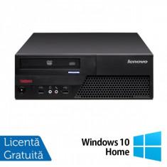 Lenovo ThinkCentre M58p Desktop, Intel Core 2 Duo E8400, 3.0Ghz, 4Gb DDR3, 250Gb HDD, DVD-RW + Windows 10 Home - Sisteme desktop fara monitor Ibm