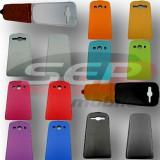 Toc piele FlipCase DELUXE Sony Xperia M4 Aqua / Xperia M4 Aqua Dual, Negru