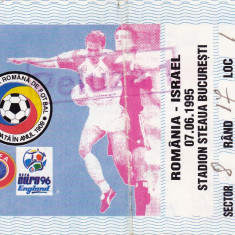 Bilet meci fotbal ROMANIA - ISRAEL 07.06.1995
