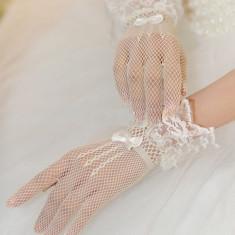 GL11-2 Manusi elegante cu dantela si plasa - Manusi Dama, Marime: Marime universala