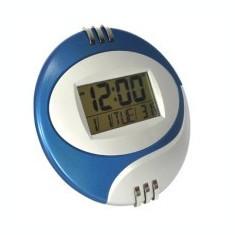 Ceas Electronic termometru alarma de perete sau masa forma rotund - Ceas desteptator