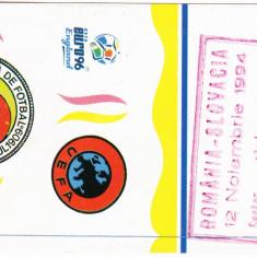 Bilet meci fotbal ROMANIA - SLOVACIA 12.11.1994