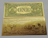 1 DOLLAR S.U.A. - BANCNOTA POLYMER (PLASTIC) AURIT CU AUR 24 K