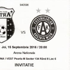 Bilet meci fotbal ASTRA GIURGIU - AUSTRIA VIENA 15.09.2016 Europa League