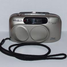 Minolta Riva Zoom 75W Zoom lens 28-75mm Macro - Transport gratuit prin posta! - Aparat Foto cu Film Konica Minolta