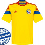 Tricou barbat Adidas Romania - tricou original - tricou fotbal - Tricou barbati Adidas, Marime: S, Culoare: Galben, Maneca scurta, Poliester