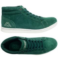 Adidasi inalti barbati KAPPA_din piele_in cutie_40, 44, 46_livrare gratuita - Ghete barbati Kappa, Culoare: Verde, Piele naturala