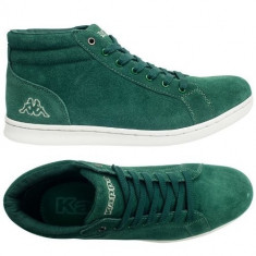 Adidasi inalti barbati KAPPA_din piele_in cutie_40, 44, 46_livrare gratuita - Adidasi barbati Kappa, Culoare: Verde, Piele naturala