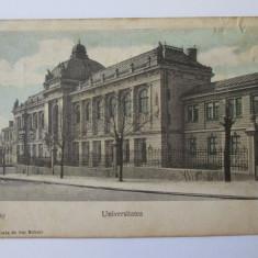 CARTE POSTALA CIRCULATA UNIVERSITATEA JASI 1907, Printata, Iasi