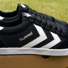 Adidasi HUMMEL_cu piele_adidasi barbati_41_livrare gratuita, Culoare: Negru, Textil