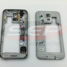 Carcasa mijloc Samsung Galaxy S5/G900 GRI original