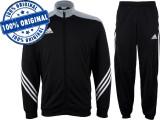 Trening barbat Adidas Sereno - trening original - treninguri pantaloni conici, S, Negru, Poliester