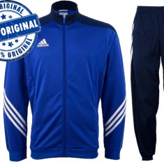 Trening barbat Adidas Sereno - trening original - treninguri pantaloni conici - Trening barbati Adidas, Marime: S, Culoare: Albastru, Poliester