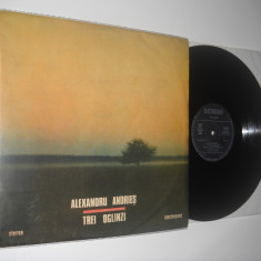 ALEXANDRU ANDRIES : Trei Oglinzi (1989)(vinil CU AUTOGRAF, stare excelenta) - Muzica Jazz electrecord