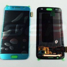 Display Samsung Galaxy S6 G920 negru / original / LCD cu touchscreen