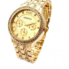 Ceas Luxury gold de dama - Ceas dama, Lux - elegant, Quartz, Inox, Analog