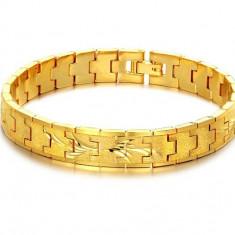 Bratara Lata Barbati Placata Aur 18k - Bratara placate cu aur