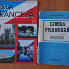 Lot 2 manuale scolare vechi Limba Franceza.Manual pentru clasa a VII-a, 1997 - Manual scolar, Clasa 4, Romana