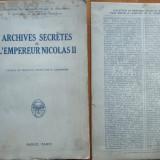 Lazarevici, Arhivele secrete ale Imparatului Nicolai II al Rusiei, Payot, 1928 - Carte Editie princeps