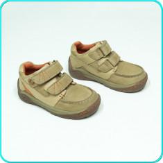DE CALITATE _ Pantofi DIN PIELE, comozi si practici, ELEFANTEN _ baieti | nr. 25 - Pantofi copii, Culoare: Bej, Marime: 38, Piele naturala