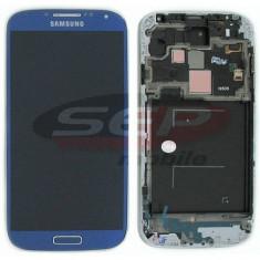 LCD+Touchscreen cu Rama Samsung Galaxy S4 I9505 BLUE original