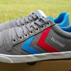 Adidasi HUMMEL_cu piele_adidasi barbati_43,44_livrare gratuita, 43, 44, Gri, Textil, Hummel