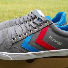 Adidasi HUMMEL_cu piele_adidasi barbati_43, 44_livrare gratuita, Culoare: Gri, Textil