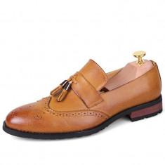 Pantofi eleganti Loafer. Cod BEL1. Disponibili in trei culori. COLECTIA NOUA! - Pantofi barbat, Marime: 43, 44, Culoare: Maro, Piele naturala