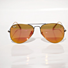 Ochelari de soare Ray Ban RB 3025 167/2k, Unisex, Auriu, Pilot, Metal, Protectie UV 100%
