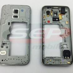 Carcasa mijloc Samsung Galaxy S5 mini / G800 GRI original